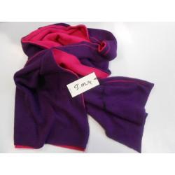 Sciarpa due colori Fuxia e Viola -  Misto cashmere