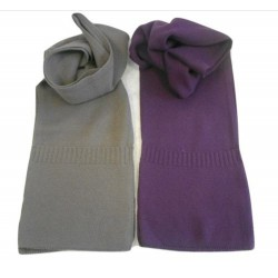 Sciarpa in maglia rasata con tasche applicate - 100% Puro Cashmere