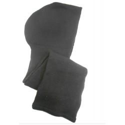 Sciarpa cappuccio in maglia punto costa inglese  - 100% Puro Cashmere