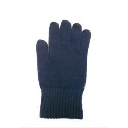 Guanto classico in maglia rasata con polso elasticizzato  - 100% Puro Cashmere