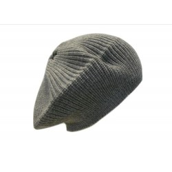 Basco in maglia punto pannocchia con bottone ricoperto in lana - 100% Pura Lana