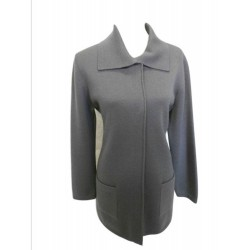 Cappotto punto stoffa con tasche in 100% pura lana