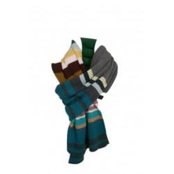 Sciarpa a costine con righe a più colori