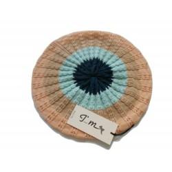 Basco punto lavorato a trecce - 100% lana