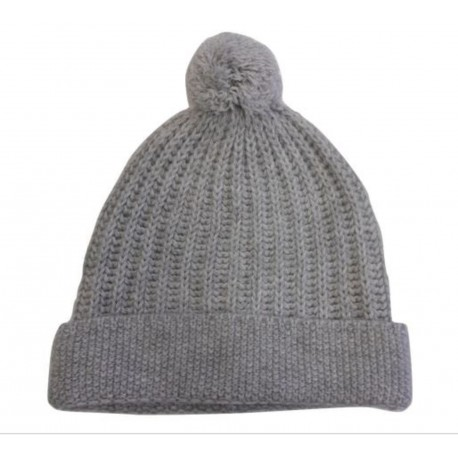 Berretto effetto tricot in 100% lana